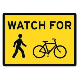 Watch for Pedestrians and Cyclists