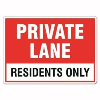 Private Lane Residents Only